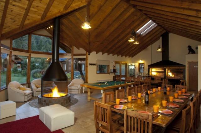 Sala De Estar Con Quincho ~ Alquiler  Casa Entera Capacidad  7 + 1 Categoría  Cabañas